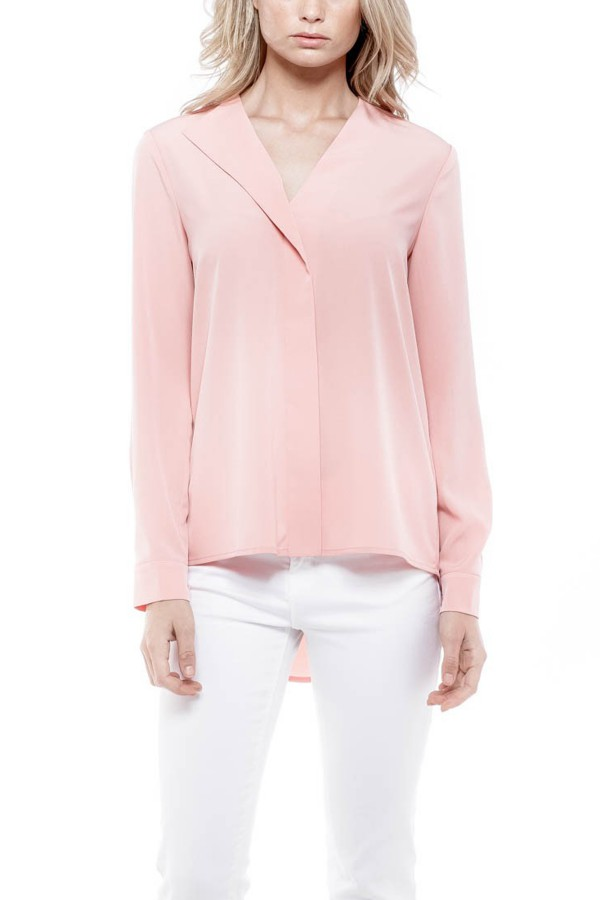 DELIA LAPEL COLLAR TOP